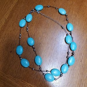 Jewelry - Turquoise stone wrap necklace